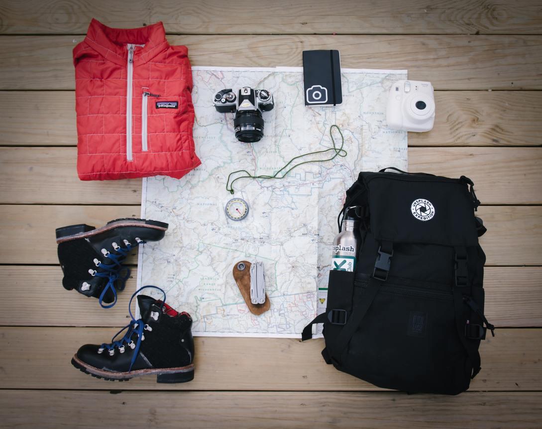 Maleta para viaje campamento