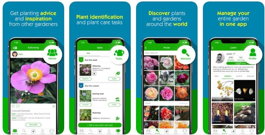 Aplicaciones Garden Tags