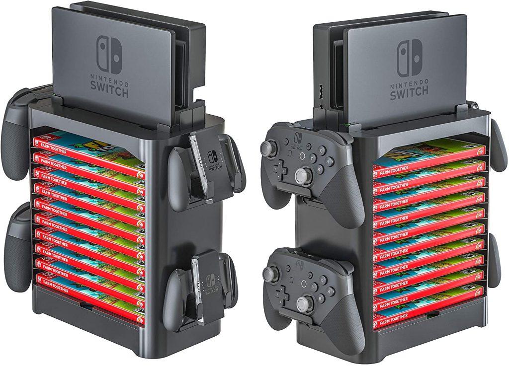 Skywin Torre de almacenamiento para Nintendo Switch