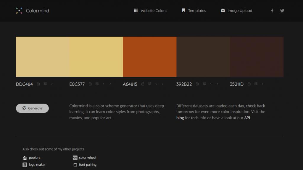 Colorind, IA que genera paletas de colores