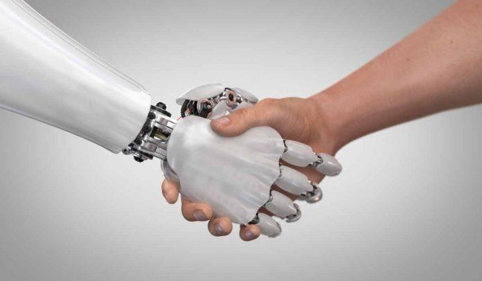 Robots y humanos trabajando juntos
