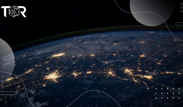 El planeta Tierra comienza a oscurecerse